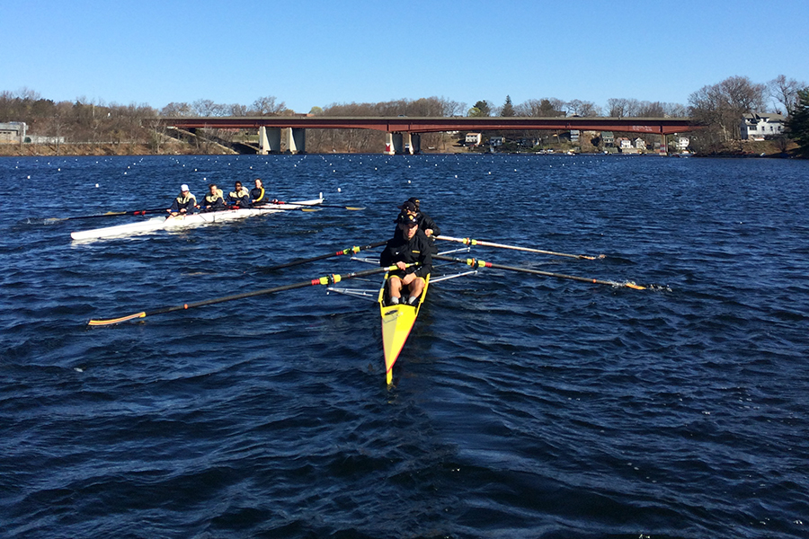 Rowing Competes at Worcester Regatta