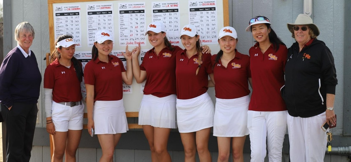 CMS Women's Golf Shoots School-Record 291 to Take First Place at SCIAC #2