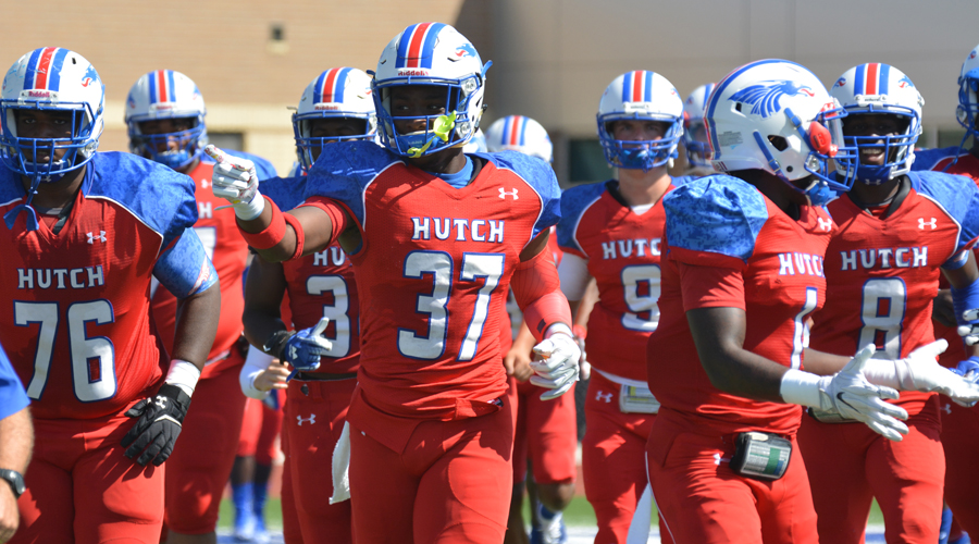 The No. 5-ranked Blue Dragon football team takes on No. 13 Highland in a big Jayhawk Conference battle at Noon Saturday at Gowans Stadium. (Bre Rogers/Blue Dragon Sports Information)