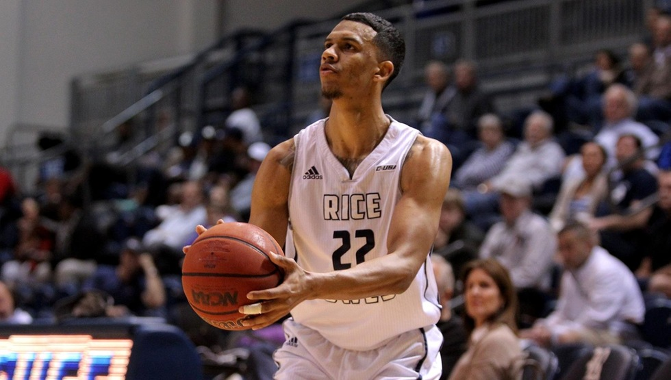 Marcus Jackson, a three-year starter and graduate of Rice University, will transfer to UCSB and have one year of eligibility remaining. As a graduate transfer he will be able to play immediately. (Photo courtesy of Rice University Athletics Communications)