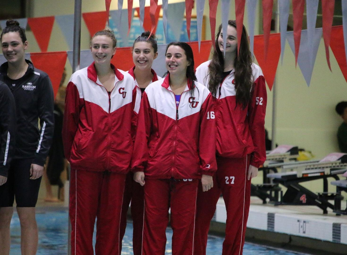 Women's Swimming and Diving Compete in NEWMAC Championship First Session