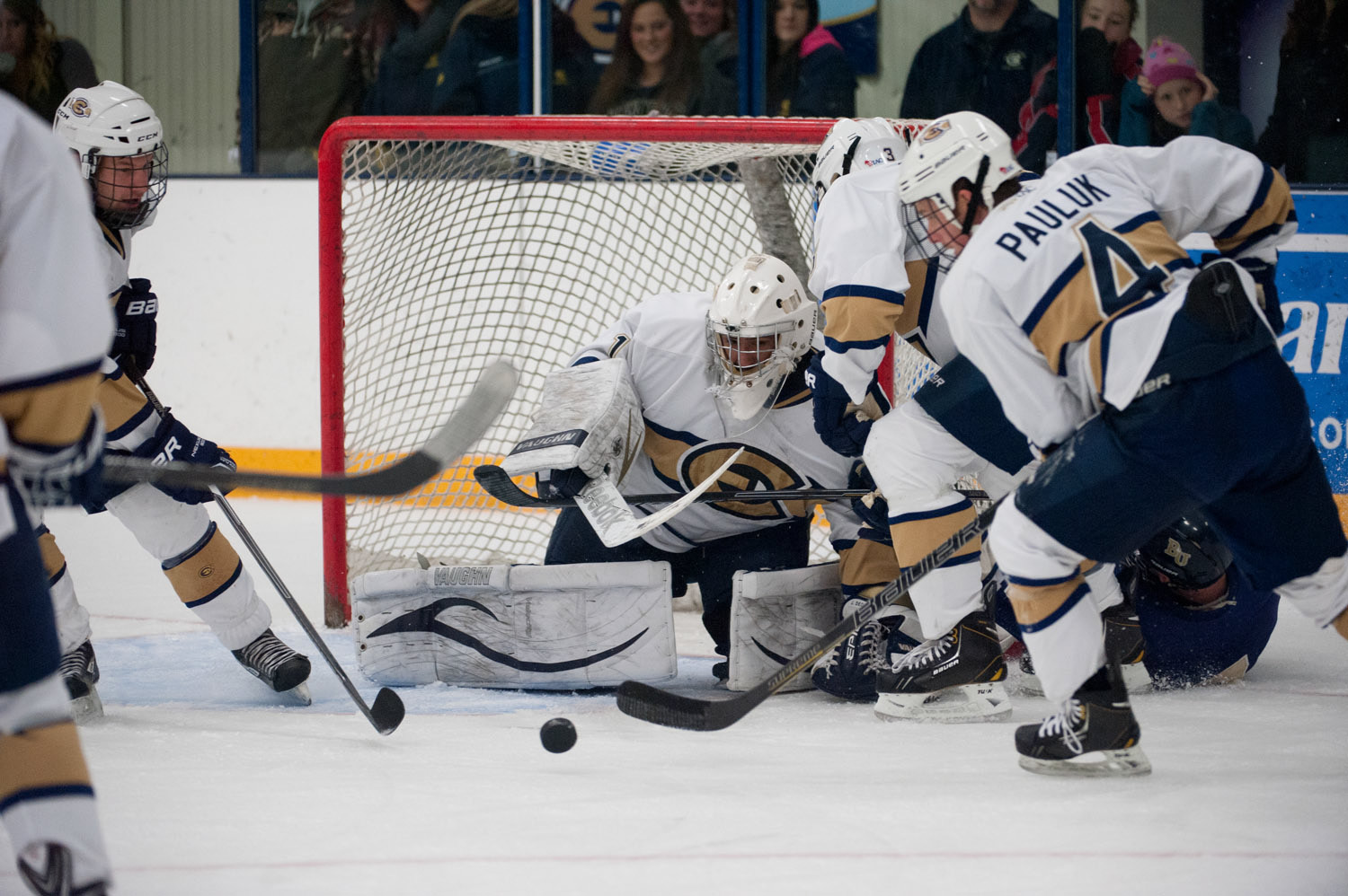 No. 10 Men's Hockey routs Gusties 9-1