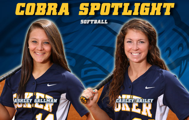 Cobra Spotlight- Ashley Gallman & Carley Bailey, Softball