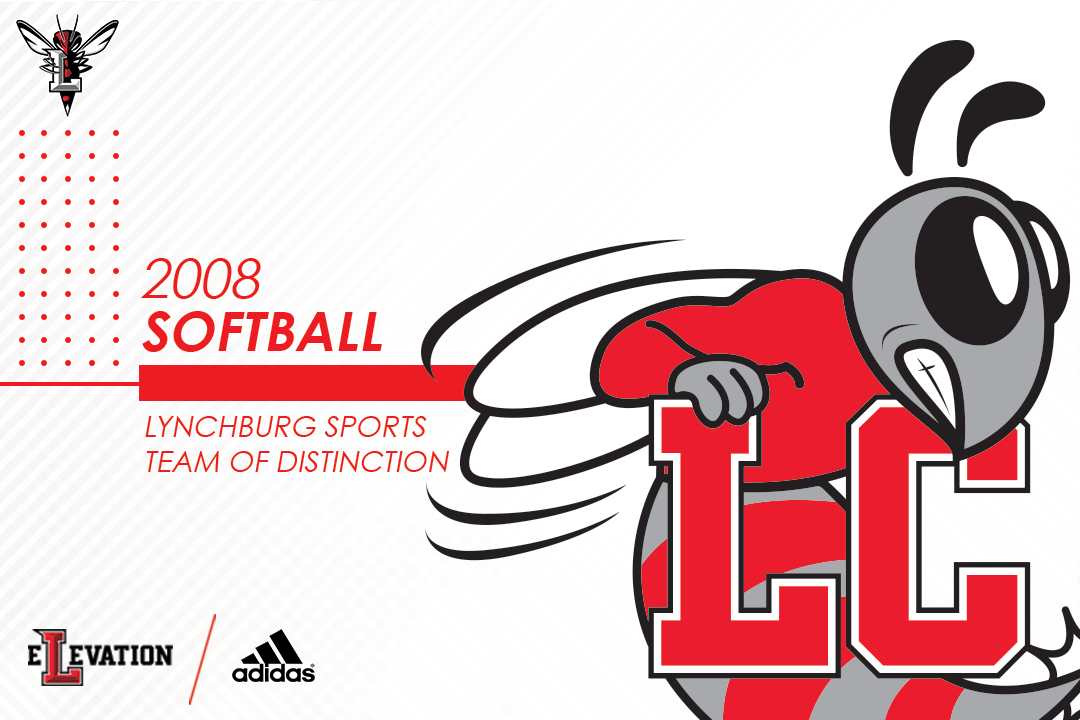 Lynchburg College logo on white background. Text: 2008 softball Lynchburg sports team of distinction