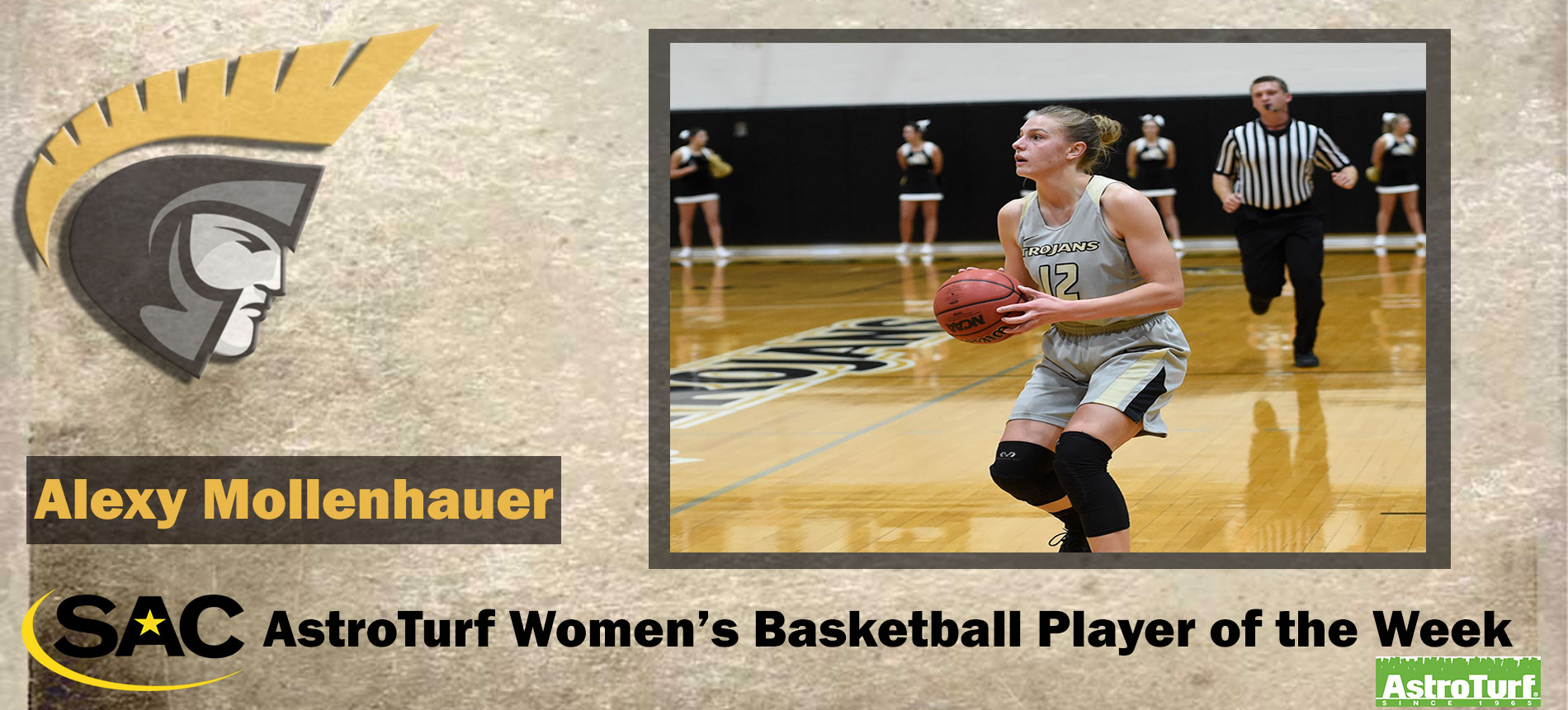 Mollenhauer Earns South Atlantic Conference AstroTurf Women's Basketball Player of the Week