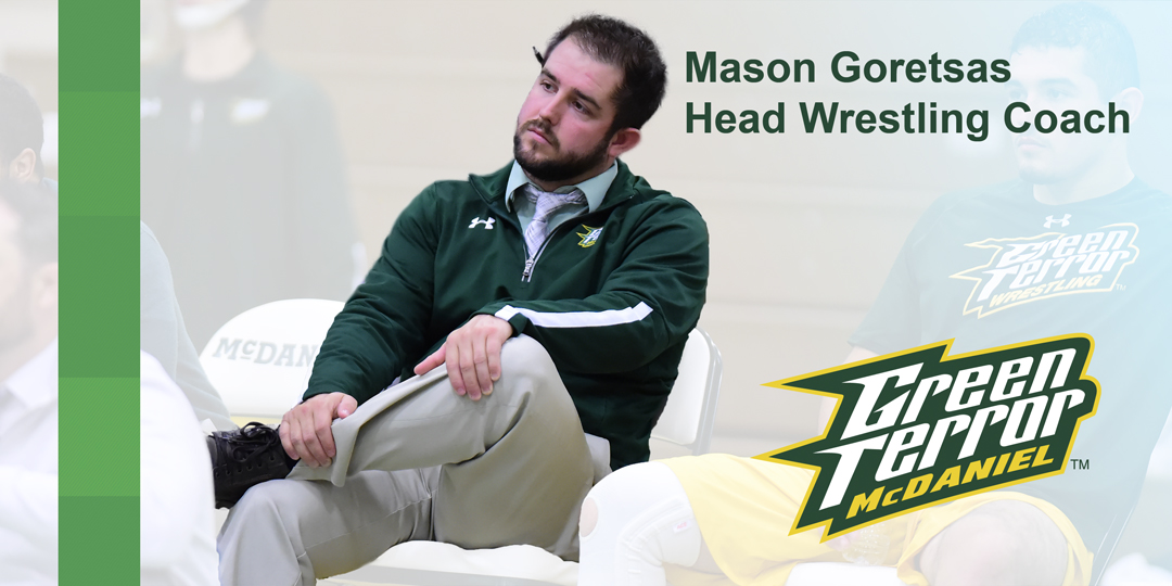Mason Goretsas promoted to head wrestling coach.
