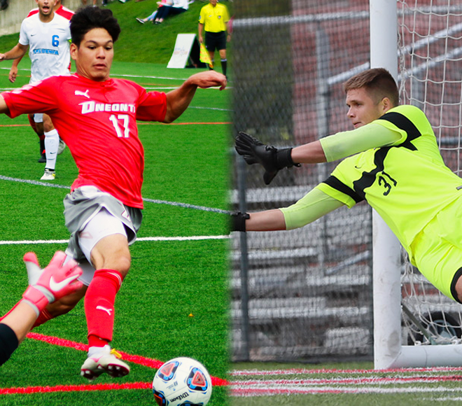 Hernandez, Kelly receive Men's Soccer Athletes of the Week honors