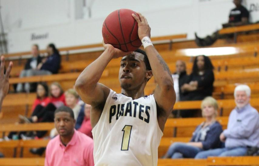 Indy sophomore guard, Ricky Edwards(1) finishes with 20 points in the 101-98 loss to Allen. Photo by Nick Dailey