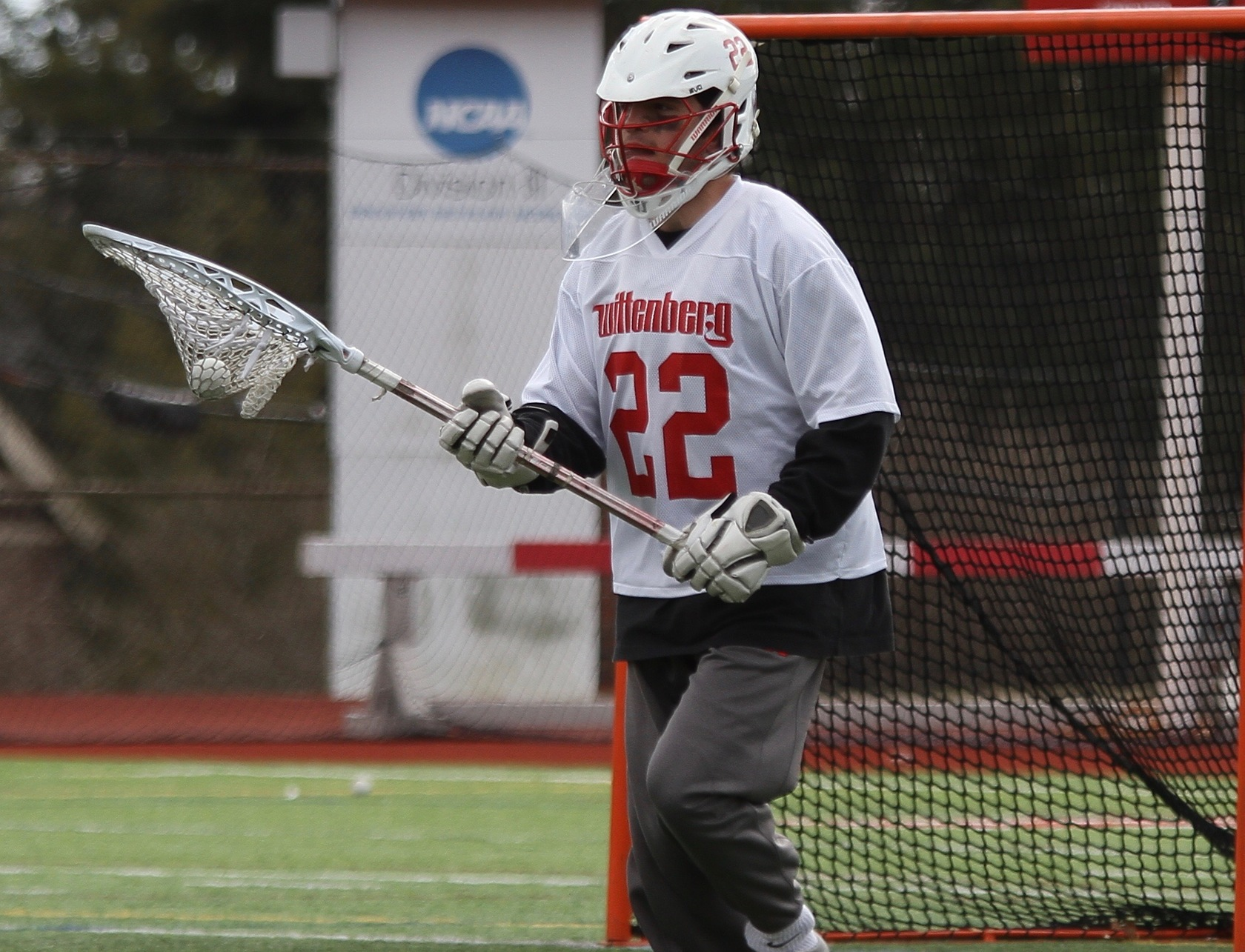 Sophomore Max Cavellier made 10 saves in Wittenberg's heartbreaking 11-10 loss against DePauw