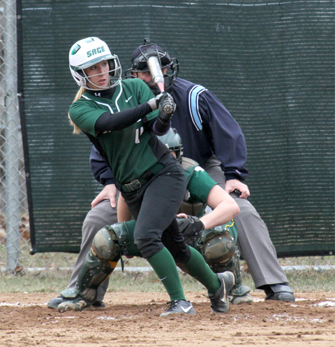 Softball team splits results on Tuesday with a loss to WPI and a key win over Northwestern Minnesota