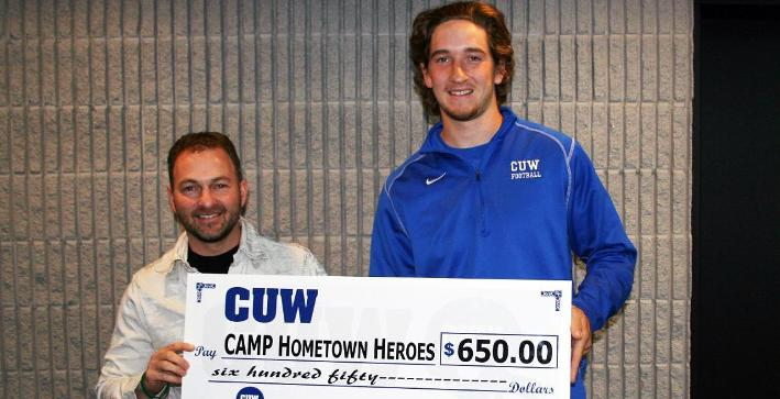 Football donates to Camp Hometown Heroes