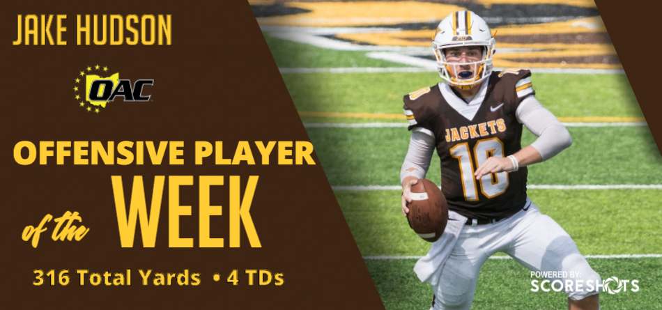 Hudson Earns Second Career OAC Football Offensive Player of the Week Honor