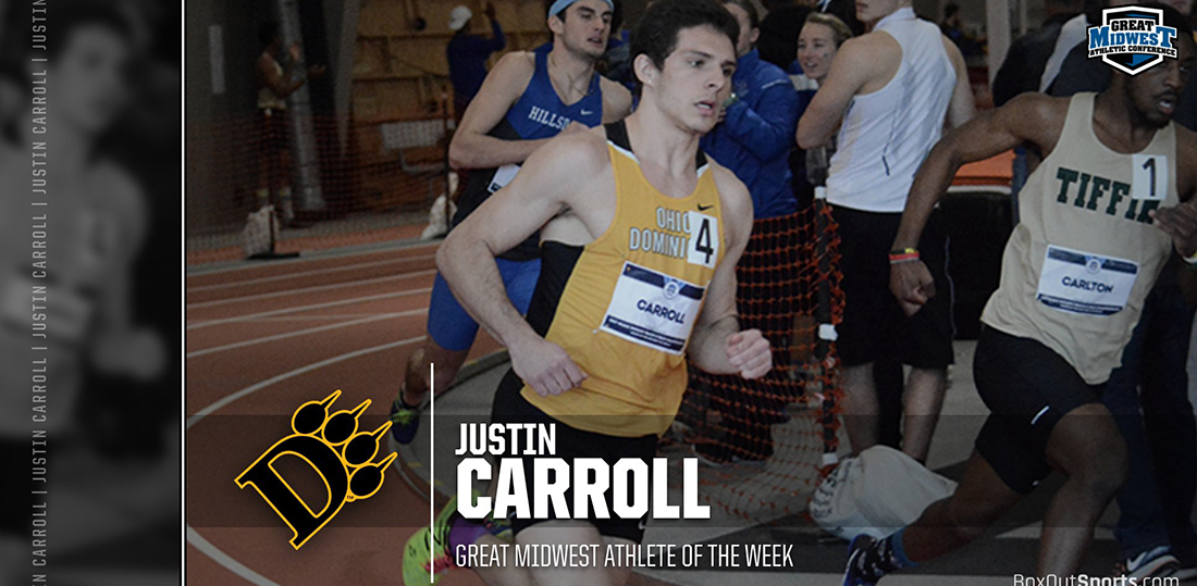 Carroll Earns Great Midwest Athletic Conference Men's Track Athlete Of The Week