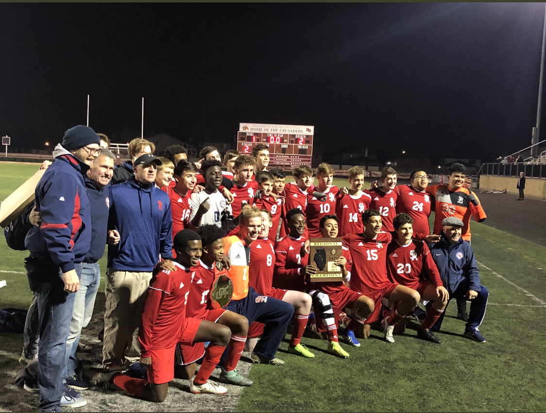 Congratulations to Varsity Soccer on winning the IHSA Class 2A Regional Championship vs Br. Rice!