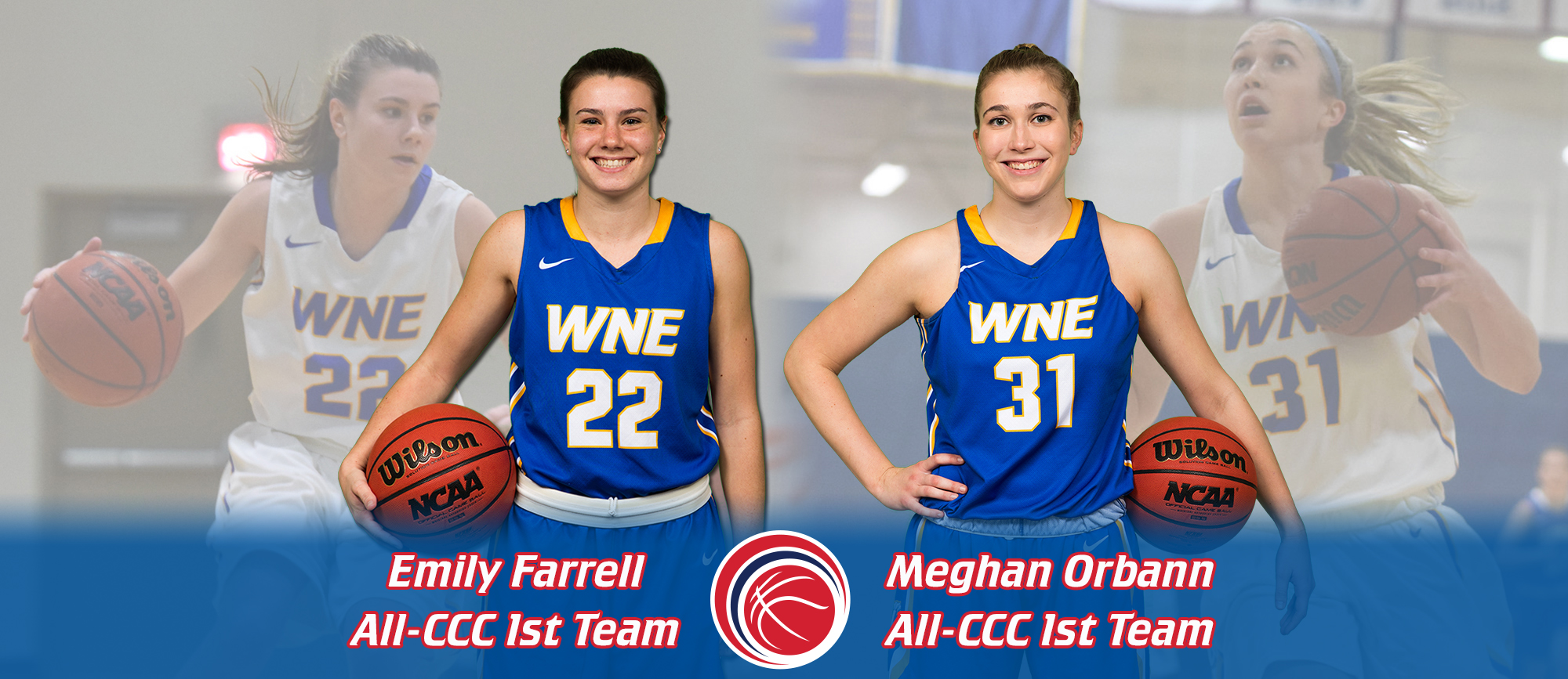 Farrell & Orbann Named to All-CCC First Team