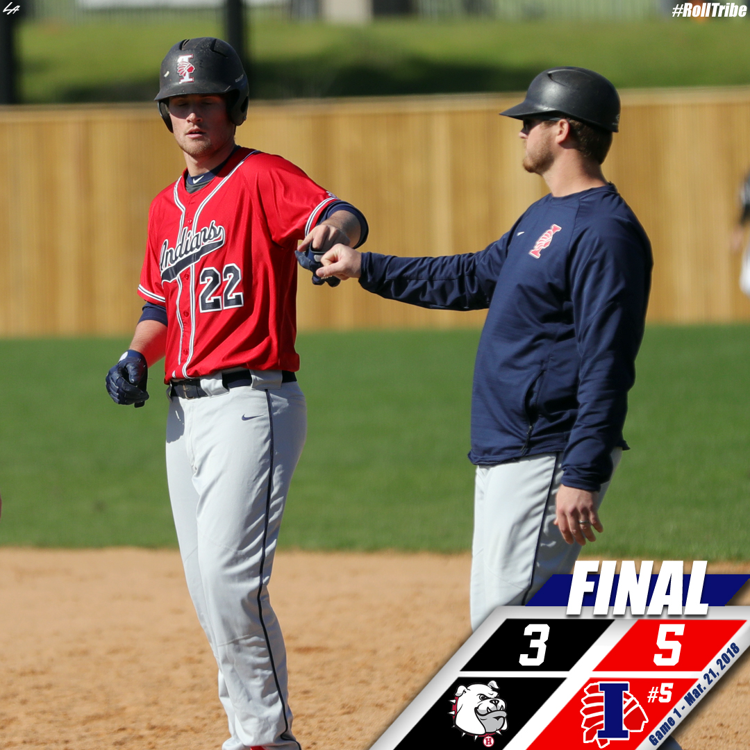 No. 5 Indians rally on the road to defeat Holmes 5-3