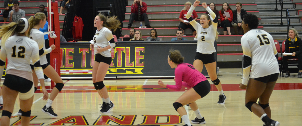 Watson and Lopez Shine as Volleyball Splits on Final Day of Maryland Invite