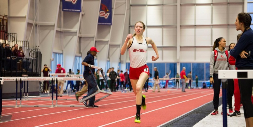 Huebner Breaks Two School Records; Team Competes well in Holiday Meets