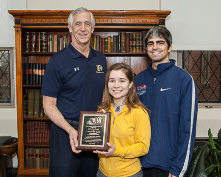 Coach Larry Curran and Assistant Coach Brian Bennett with Lisa van der Mark