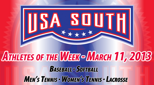 USA South Athletes of the Week - March 11, 2013