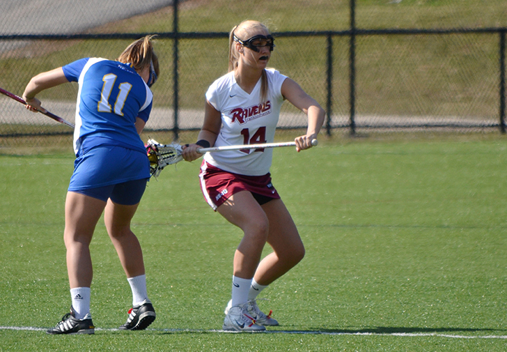 Beville Nets Four, Women's Lacrosse Rallies from 9-2 Deficit, but Falls to Saint Michael's, 14-12