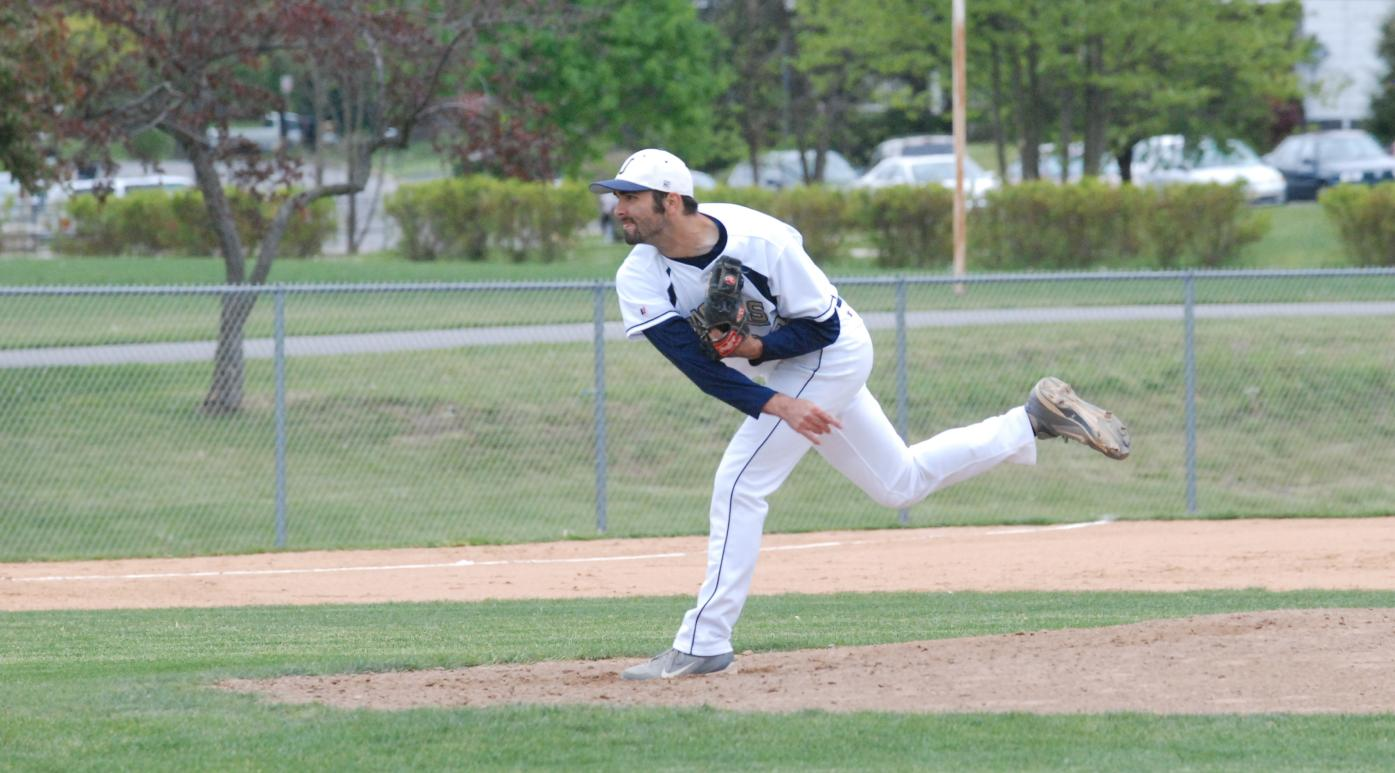 Joe Sforza pitches Juniata to Landmark win