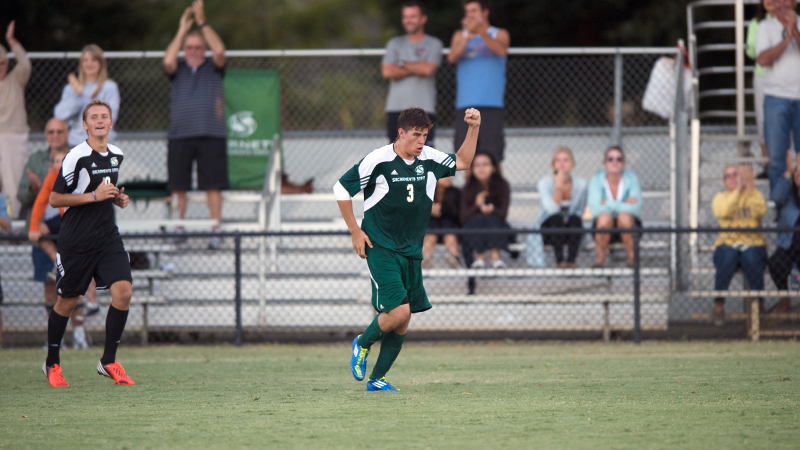 LINENBERGER HEADS IN GAME-WINNER AND MEN'S SOCCER DEFEATS SAN DIEGO IN OVERTIME