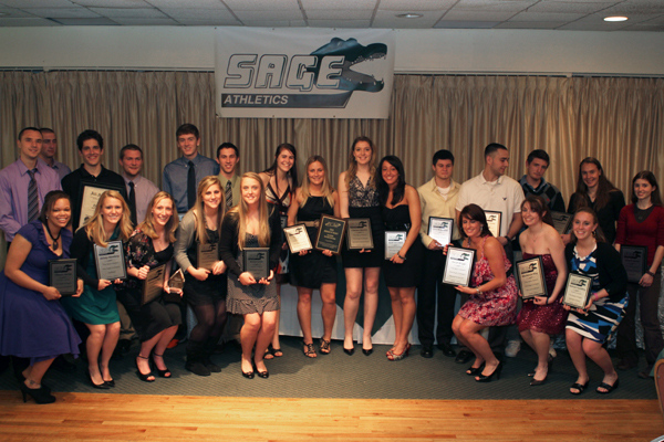 Sage honors excellence from 2010-2011 at Annual Athletic Awards Banquet