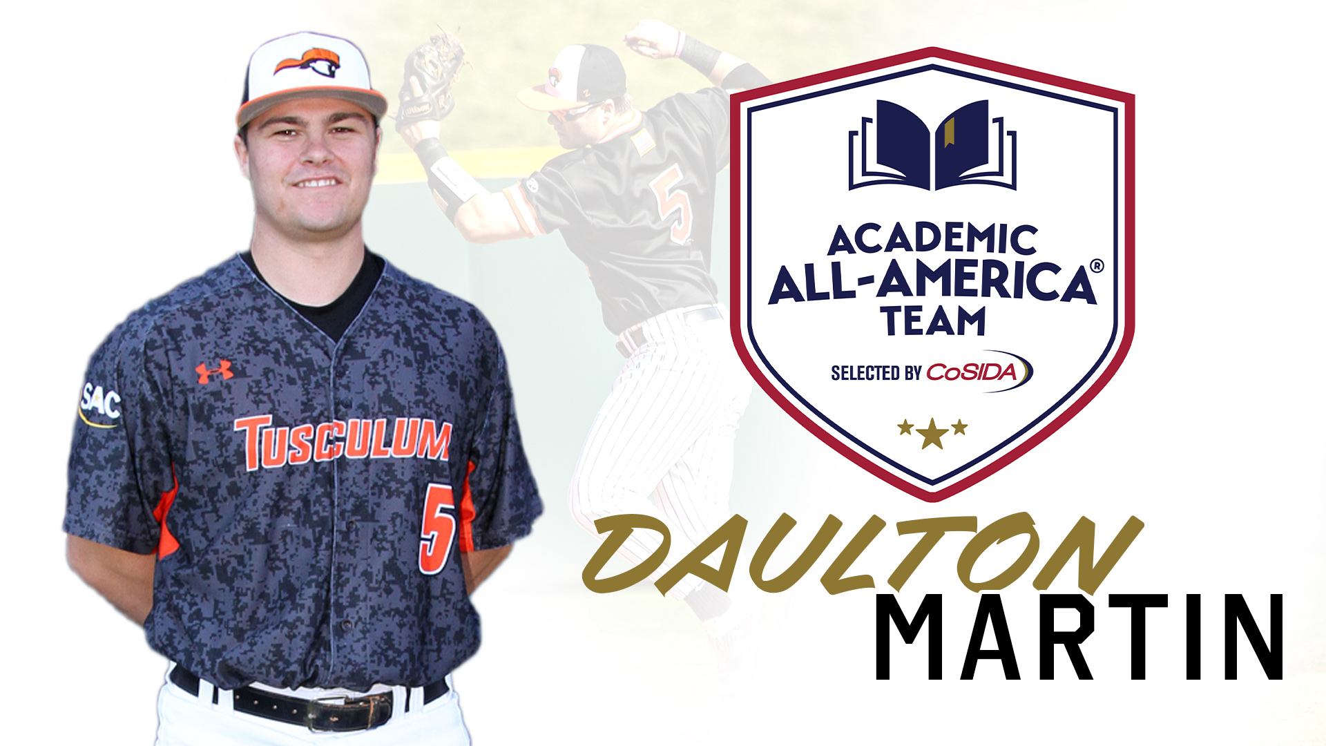 Martin named to Academic All-America baseball first team