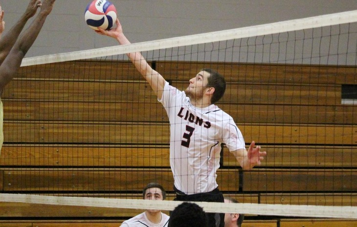 Men's Volleyball Downed at Elms in NECC-Opener