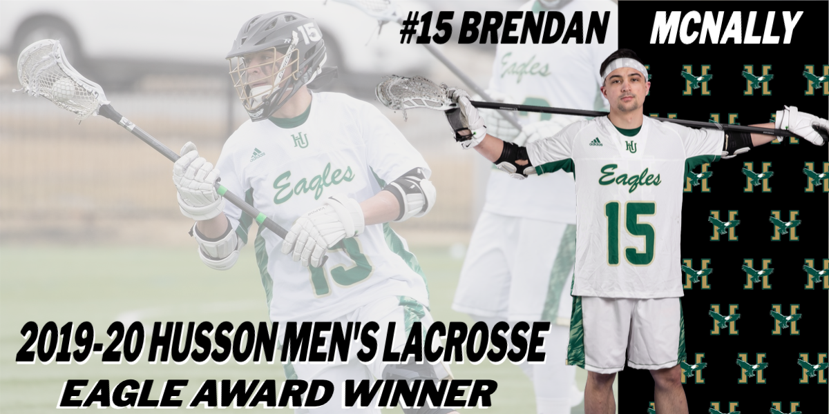 Husson Men's Lacrosse Announces Brendan McNally as the 2019-20 Eagle Award Winner