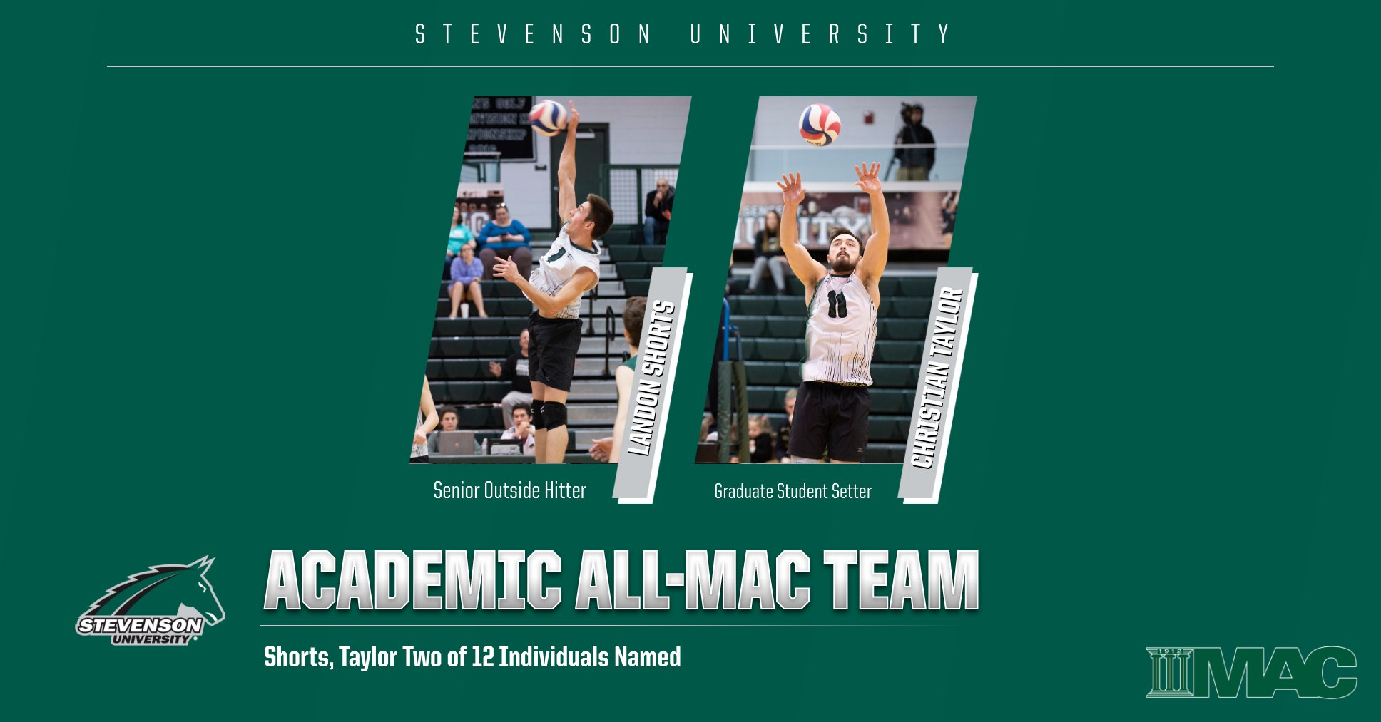 Shorts, Taylor Named to Academic All-MAC Team