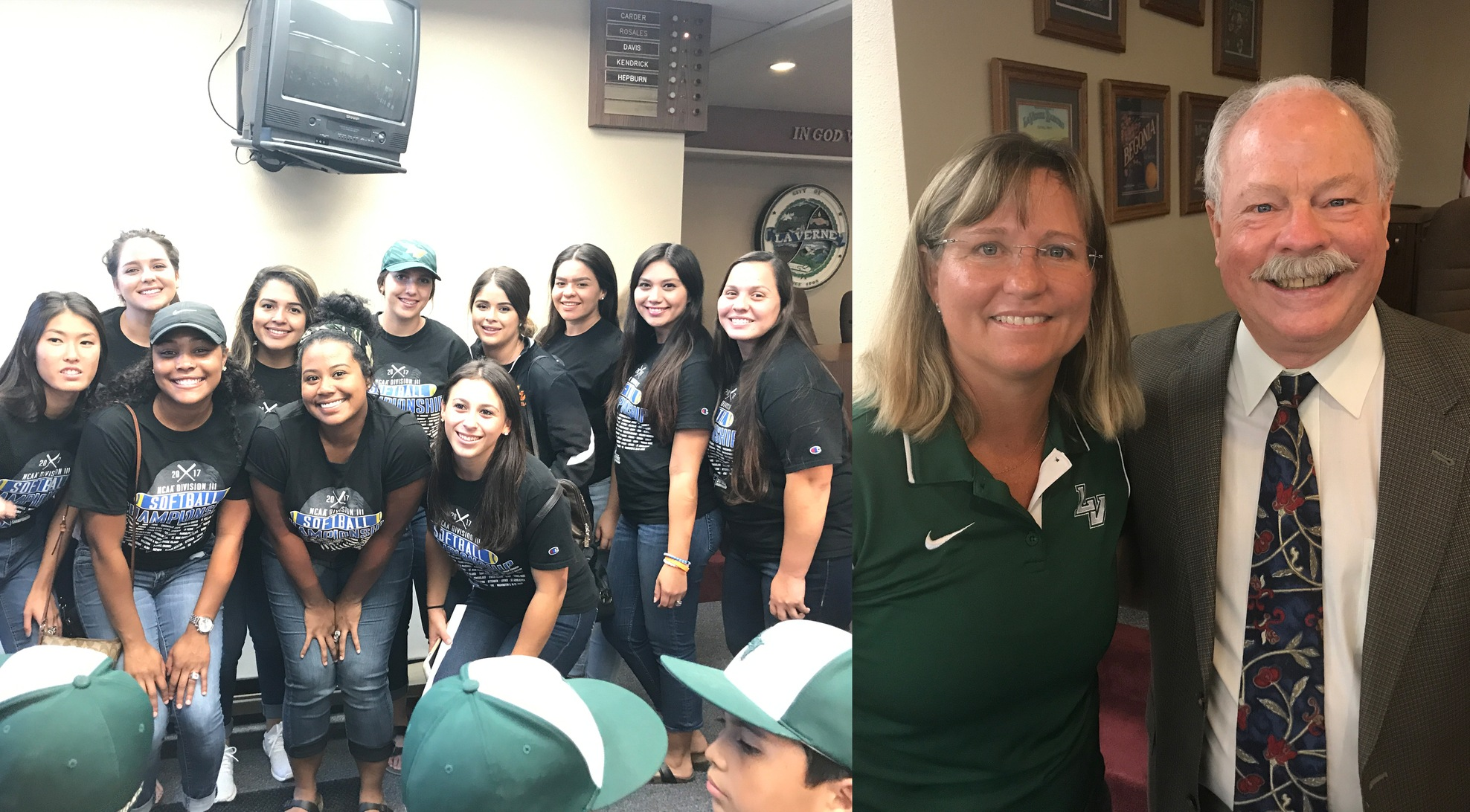 La Verne Softball honored at City Hall