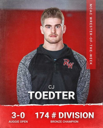 Ridgewater's Toedter  Selected as Wrestler-of-the-Week