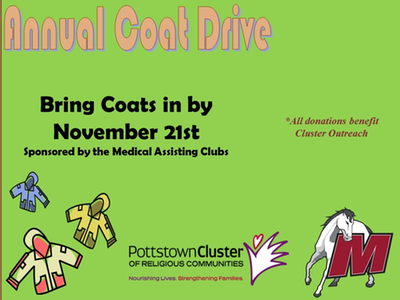 Mustangs to support Medical Assisting Club's Annual Coat Drive