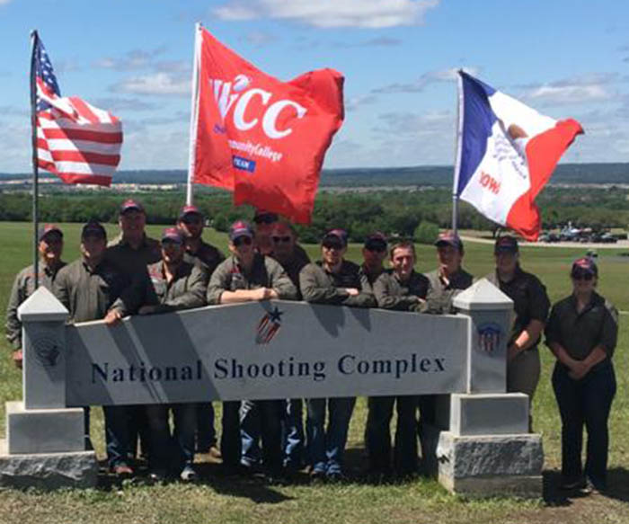 Sports shooting team at nationals