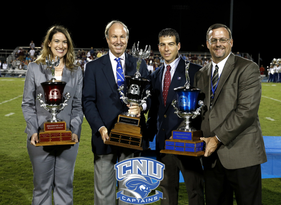 Christopher Newport Receives USA South President's Cups