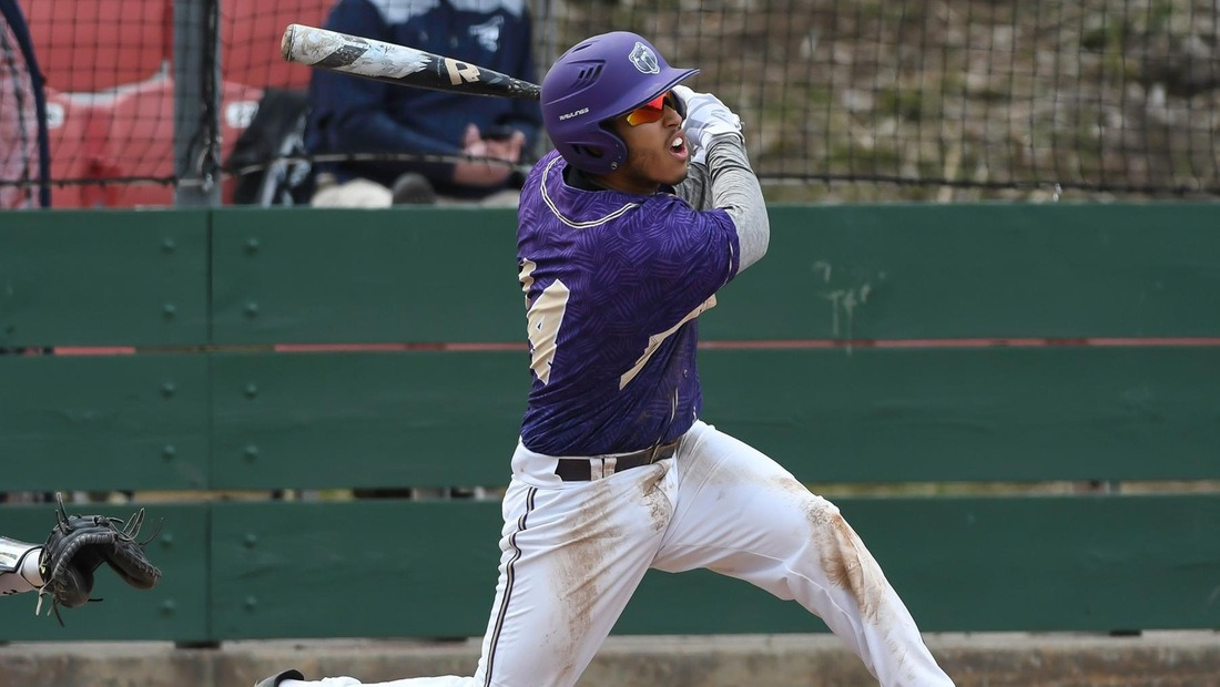Lumus Russell hit his first home run of the season for BU in game three of today's triple-header