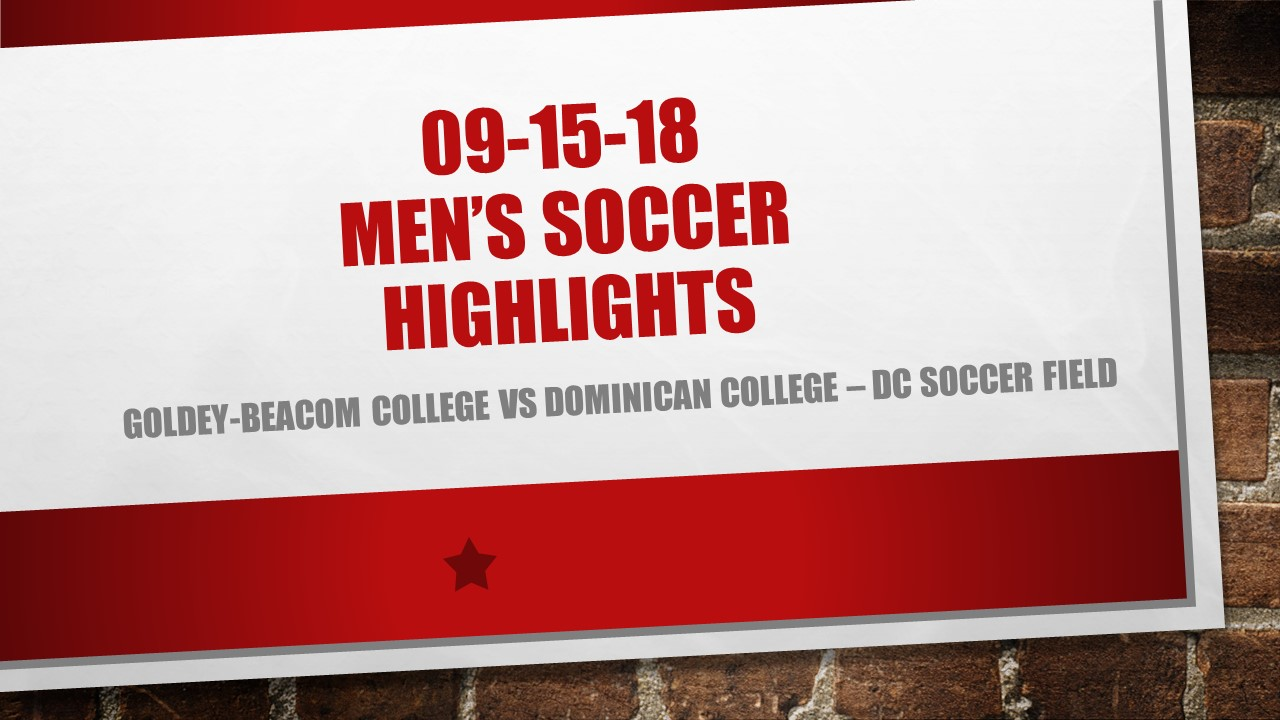 CHARGER SOCCER HIGHLIGHTS FROM VICTORY OVER GOLDEY-BEACOM COLLEGE