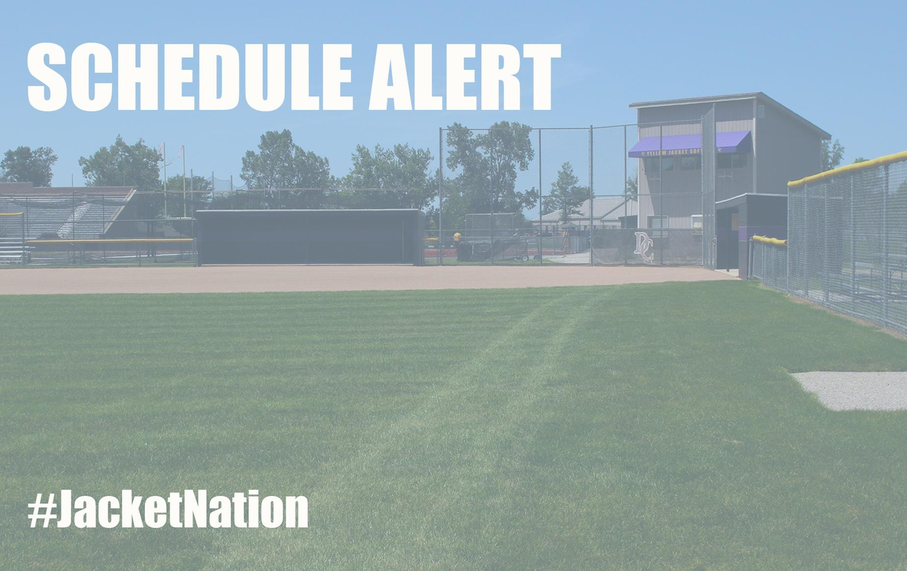 Softball Schedule Alert