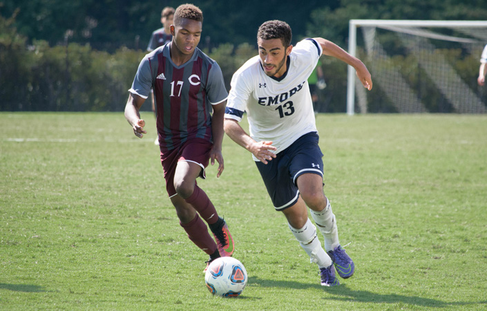 Men's Soccer Takes Down #8 WashU, 2-1, for First UAA Win