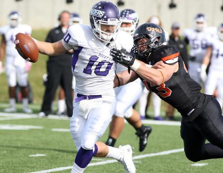 Football falls to No. 3 Mount Union at Dial-Roberson Stadium