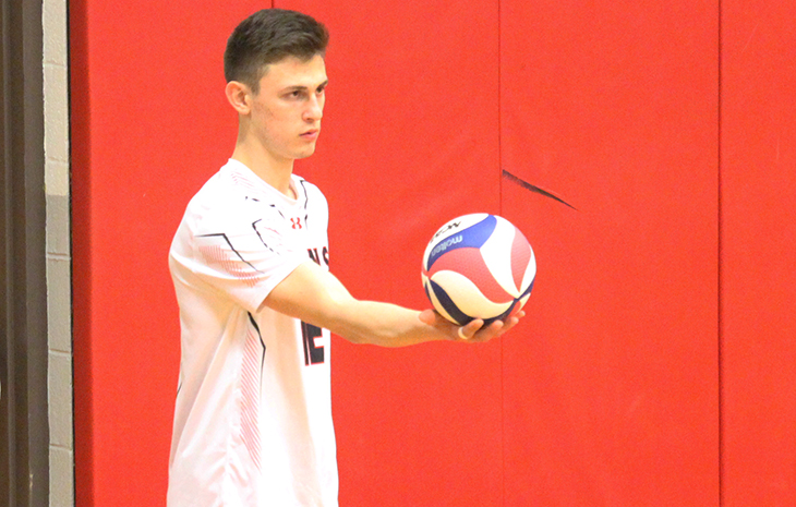 Men's Volleyball Rolls Past Lesley, 3-0