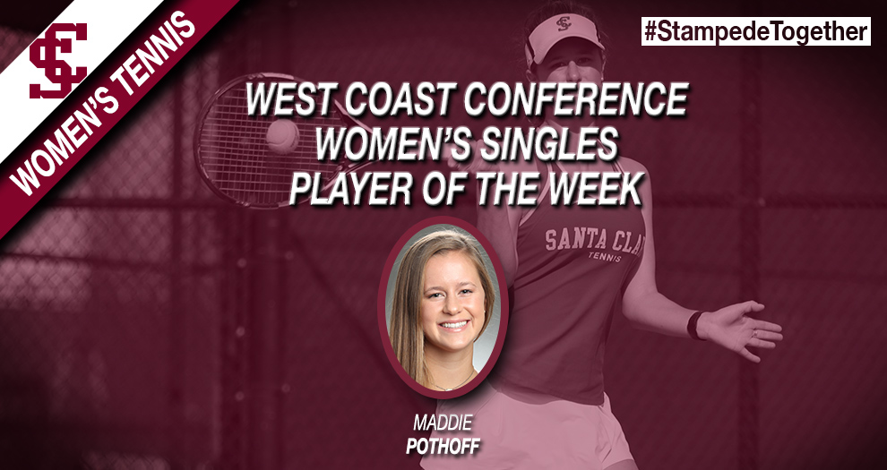 Pothoff Named WCC Women's Singles Player of the Week