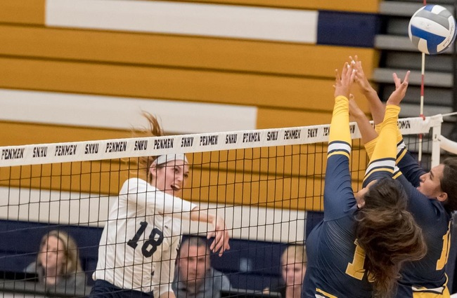 Volleyball Roars Back for Five-Set Win Versus Saint Rose