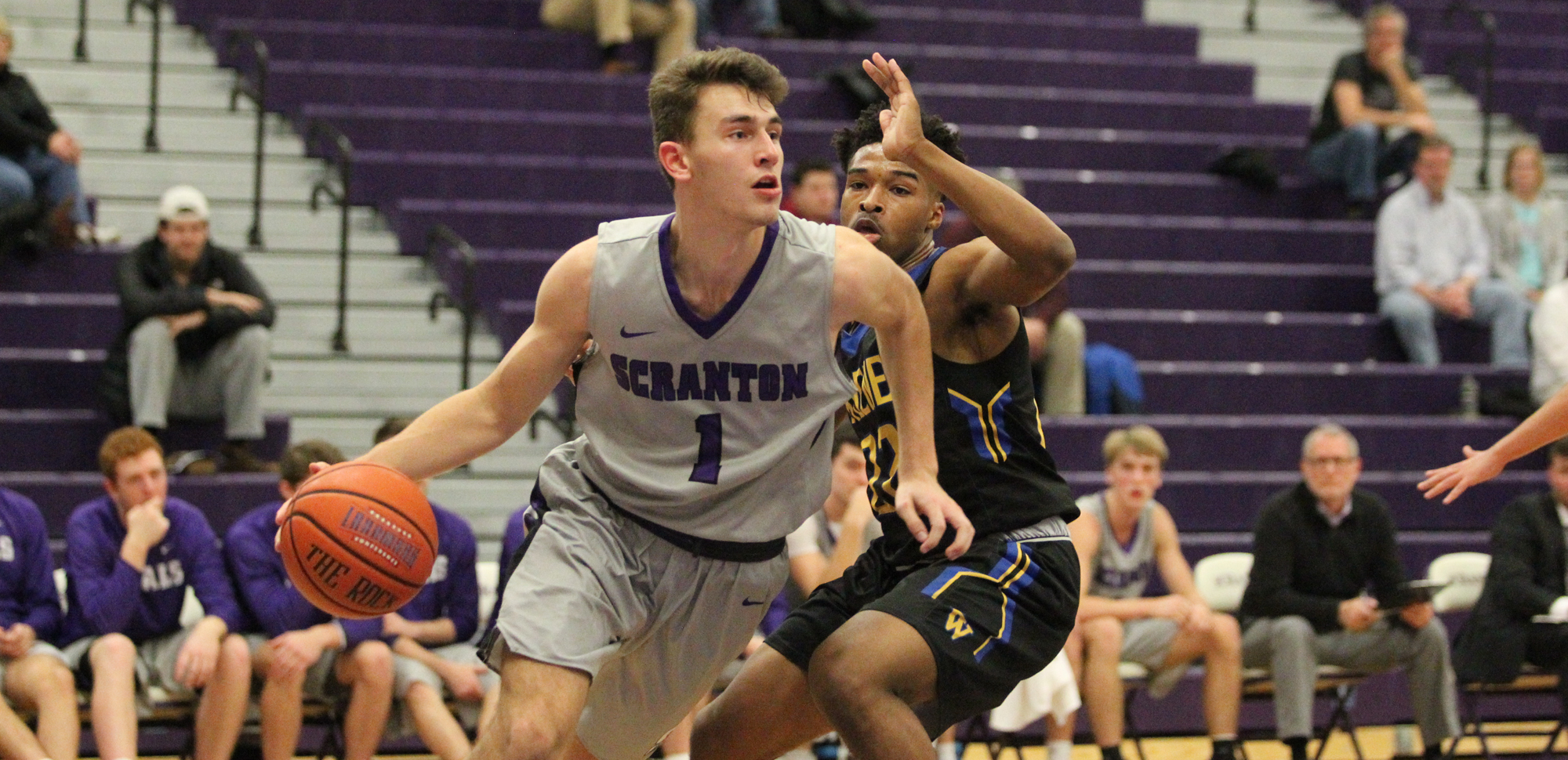 Jackson Danzig scored 10 points and had eight rebounds, four assists, and three blocks in Scranton's win over Widener on Tuesday night.