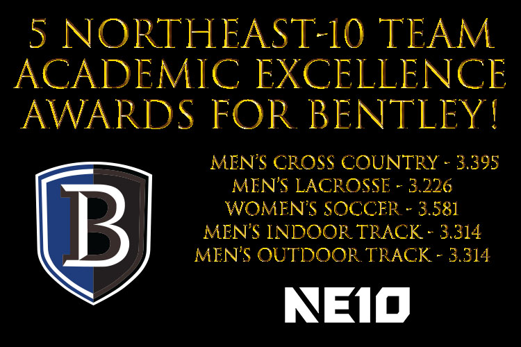 5 Bentley Teams Recognized by Northeast-10 for Academic Excellence