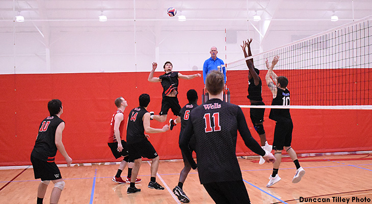 Perfect Weekend Complete For Wells Men's Volleyball
