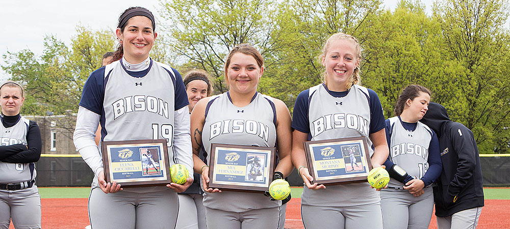 Three Bison honored on Senior Day, GU drops two games to St. Elizabeth
