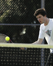 Loggers Too Much For Men's Tennis